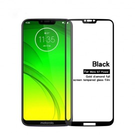 Full-Cover Tempered Glass Motorola Moto G7 Power - Zwart