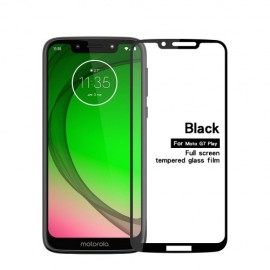 Full-Cover Tempered Glass Motorola Moto G7 Play - Zwart