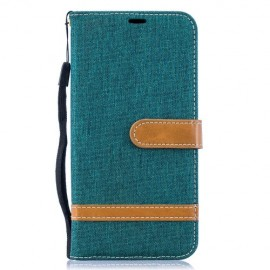 Denim Book Case Samsung Galaxy A10 Hoesje - Groen