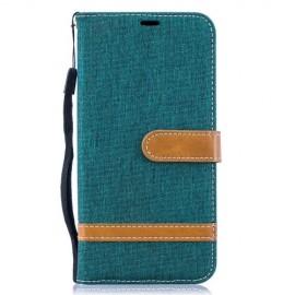 Denim Book Case Samsung Galaxy A10 Hoesje - Groen
