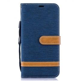 Denim Book Case Samsung Galaxy A10 Hoesje - Blauw