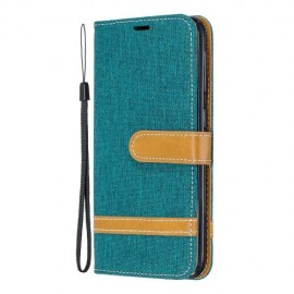Denim Book Case Samsung Galaxy A20e Hoesje - Groen