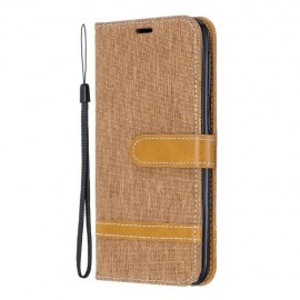 Denim Book Case Samsung Galaxy A20e Hoesje - Khaki