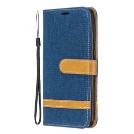 Denim Book Case Samsung Galaxy A20e Hoesje - Blauw