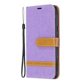Denim Book Case Samsung Galaxy A20e Hoesje - Paars
