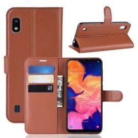 Book Case Samsung Galaxy A10 Hoesje - Bruin
