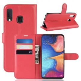 Book Case Samsung Galaxy A20e Hoesje - Rood