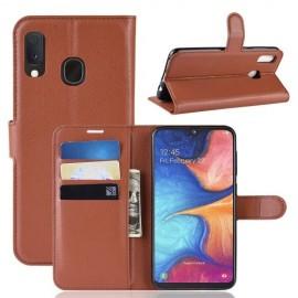 Book Case Samsung Galaxy A20e Hoesje - Bruin
