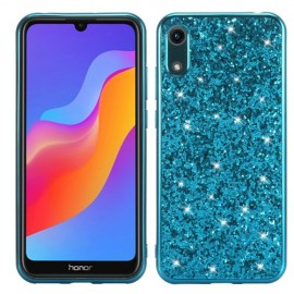 Glitter TPU Huawei Y6 (2019) Hoesje - Blauw