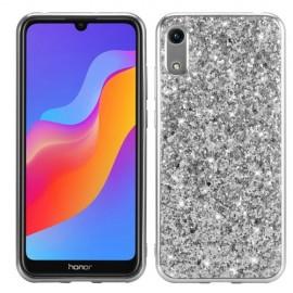 Glitter TPU Huawei Y6 (2019) Hoesje - Zilver