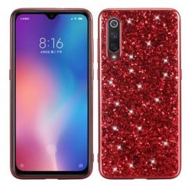 Glitter TPU Xiaomi Mi 9 Hoesje - Rood