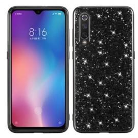 Glitter TPU Xiaomi Mi 9 Hoesje - Zwart