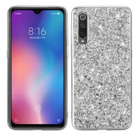 Glitter TPU Xiaomi Mi 9 Hoesje - Zilver