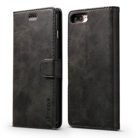 Luxe Book Case iPhone 8 Plus / 7 Plus Hoesje - Zwart