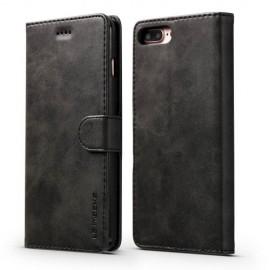 Luxe Book Case iPhone 8 Plus / 7 Plus Hoesje - Zwart