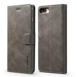 Luxe Book Case iPhone 8 Plus / 7 Plus Hoesje - Grijs