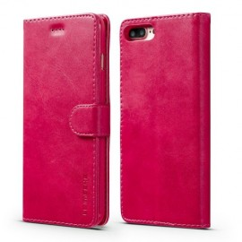 Luxe Book Case iPhone 8 Plus / 7 Plus Hoesje - Roze