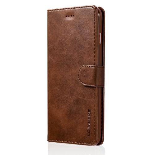 Luxe Book Case iPhone 8 Plus / 7 Plus Hoesje - Donkerbruin