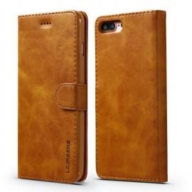 Luxe Book Case iPhone 8 Plus / 7 Plus Hoesje - Bruin