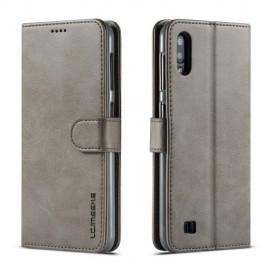 Luxe Book Case Samsung Galaxy A10 Hoesje - Grijs