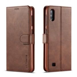 Luxe Book Case Samsung Galaxy A10 Hoesje - Donkerbruin