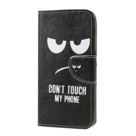 Book Case Samsung Galaxy A10 Hoesje - Don't Touch