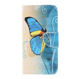 Book Case Samsung Galaxy A10 Hoesje - Blauwe Vlinder