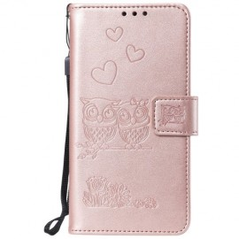 Uilen Book Case OnePlus 7 Hoesje - Rose Gold