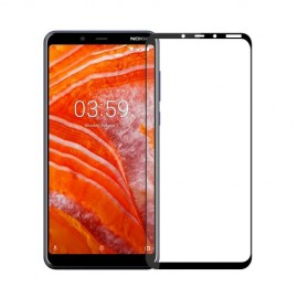 Full-Cover Tempered Glass Nokia 3.1 Plus - Zwart