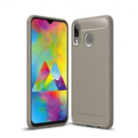 Armor Brushed TPU Samsung Galaxy M20 (Power) Hoesje - Grijs