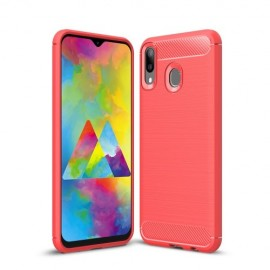 Armor Brushed TPU Samsung Galaxy M20 Hoesje - Rood
