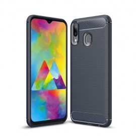 Armor Brushed TPU Samsung Galaxy M20 Hoesje - Blauw
