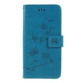 Bloemen Book Case Samsung Galaxy A10 Hoesje - Blauw