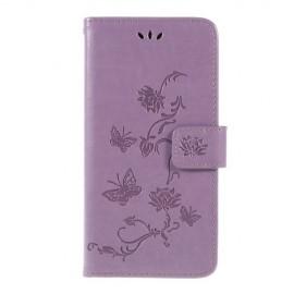 Bloemen Book Case Samsung Galaxy A10 Hoesje - Paars
