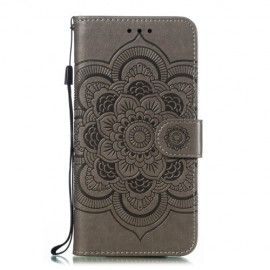 Bloemen Book Case Samsung Galaxy A20e Hoesje - Grijs