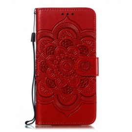Bloemen Book Case Samsung Galaxy A20e Hoesje - Rood