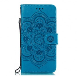 Bloemen Book Case Samsung Galaxy A20e Hoesje - Blauw
