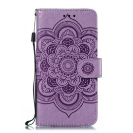 Bloemen Book Case Samsung Galaxy A20e Hoesje - Paars