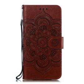 Bloemen Book Case Samsung Galaxy A20e Hoesje - Bruin