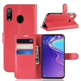 Book Case Samsung Galaxy M20 Hoesje - Rood