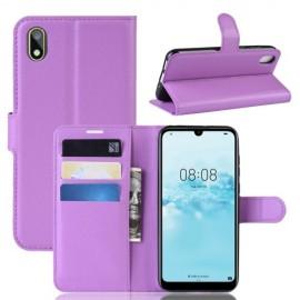 Book Case Huawei Y5 (2019) Hoesje - Paars