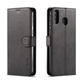 Luxe Book Case Samsung Galaxy M20 Hoesje - Zwart