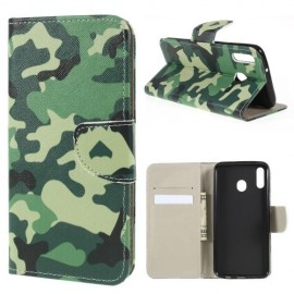 Book Case Samsung Galaxy M20 Hoesje - Camouflage