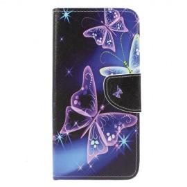 Book Case Samsung Galaxy M20 Hoesje - Vlinders