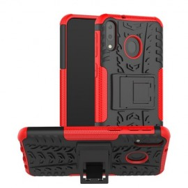 Rugged Kickstand Samsung Galaxy M20 (Power) Hoesje - Rood