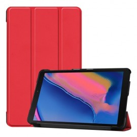Smart Book Case Samsung Galaxy Tab A 8.0 (2019) Hoesje - Rood