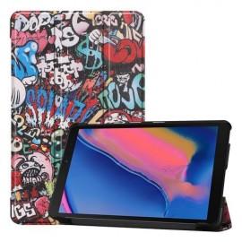 Smart Book Case Samsung Galaxy Tab A 8.0 (2019) Hoesje - Graffiti