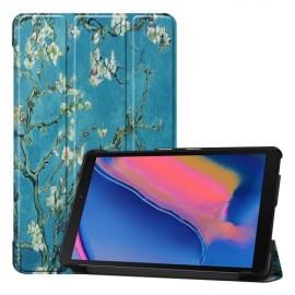 Smart Book Case Samsung Galaxy Tab A 8.0 (2019) Hoesje - Bloesem