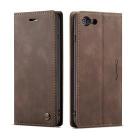 CaseMe Book Case iPhone 6 / 6s Hoesje - Donkerbruin