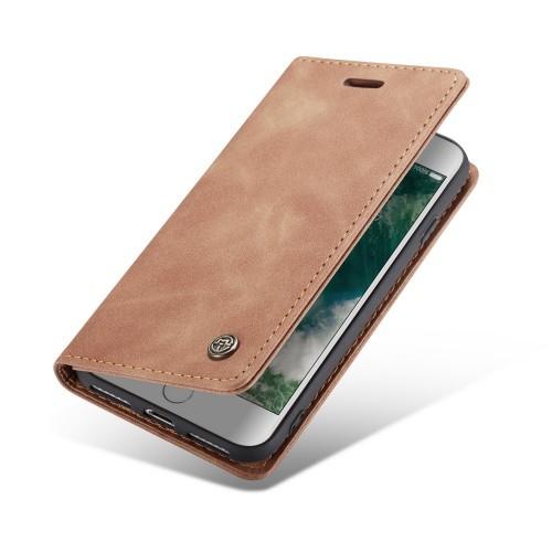 CaseMe Book Case iPhone 8 / 7 Hoesje - Bruin